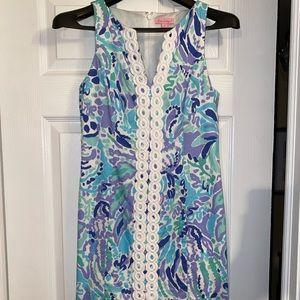Lilly Pulitzer blue printed mini dress Sz 0